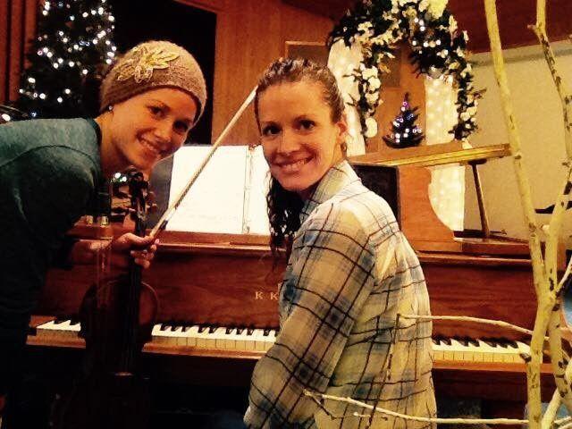 Smiling musicians