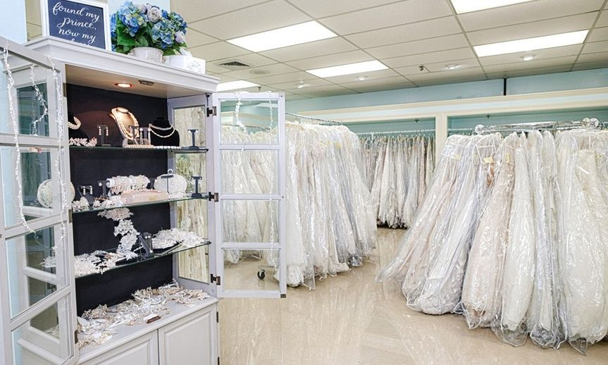 So many gowns to choose from