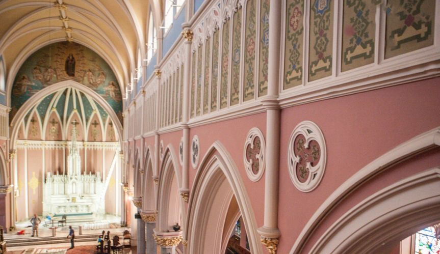 The soaring 53' ceilings of the Great Hall lend a majesty to both a ceremony OR a reception.  With...