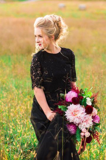 Bride in the meadows