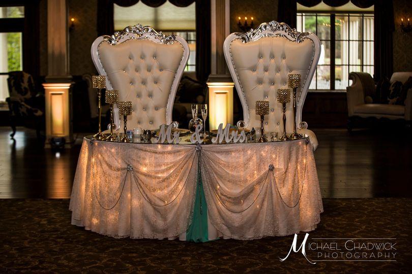 Luxurious sweetheart table