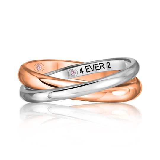 Rose Gold & White Gold Band