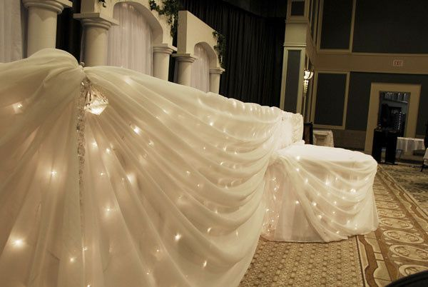Head Table Draping & Lights