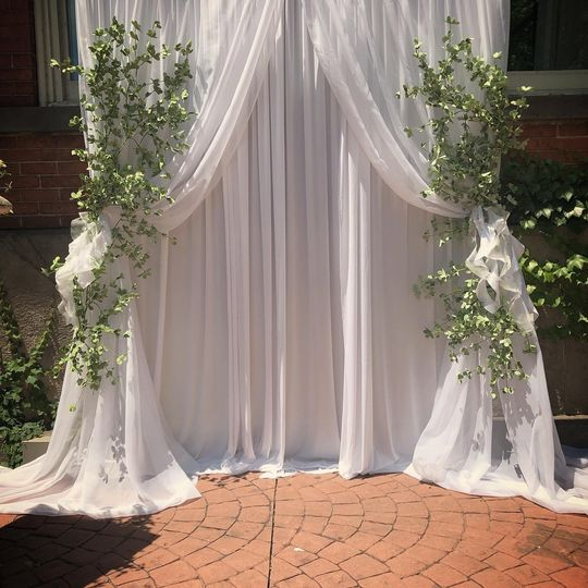 Ceremony Drapes w/greenery