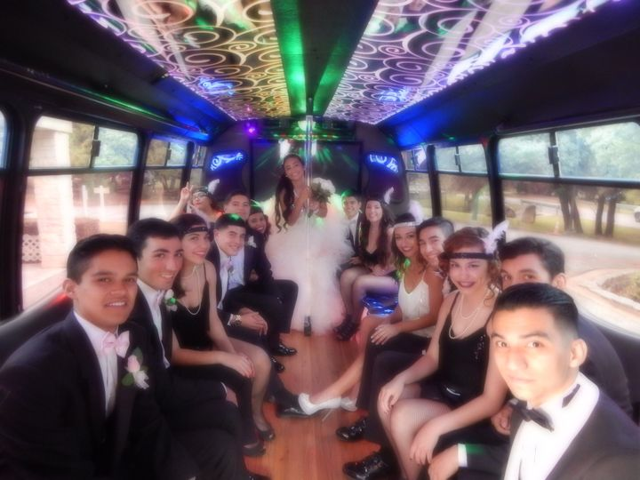 Tmx 1428952581245 Q  Her Standing Inside Bus Austin wedding transportation