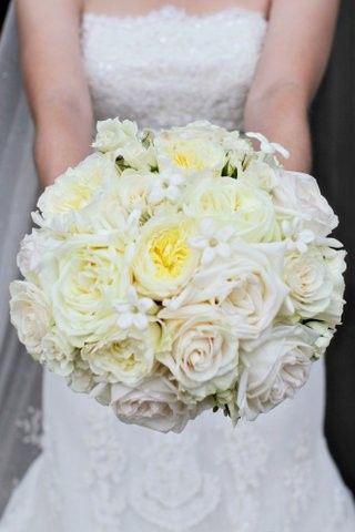 Plain white bouquet