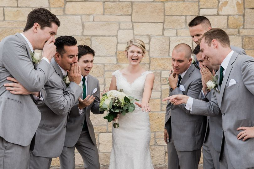 The bride & the guys.