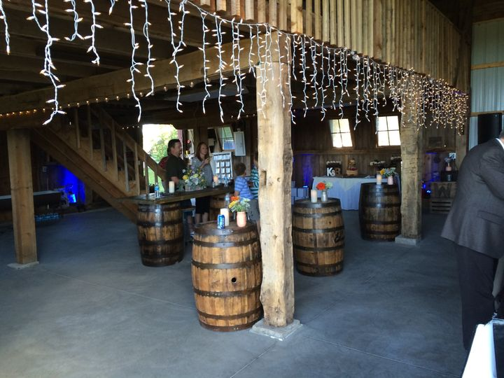 Wedding keg table