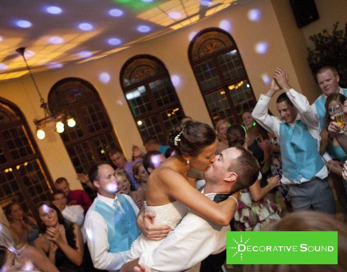Couple kiss on the dance floor