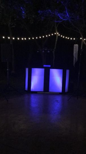 DJ booth set-up