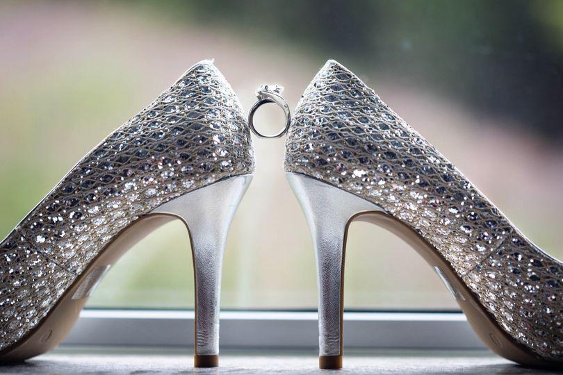 A glitzy wedding