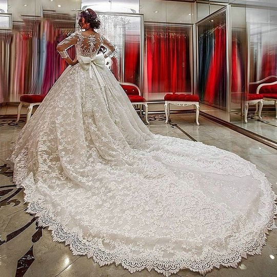 Sleeve ball gown