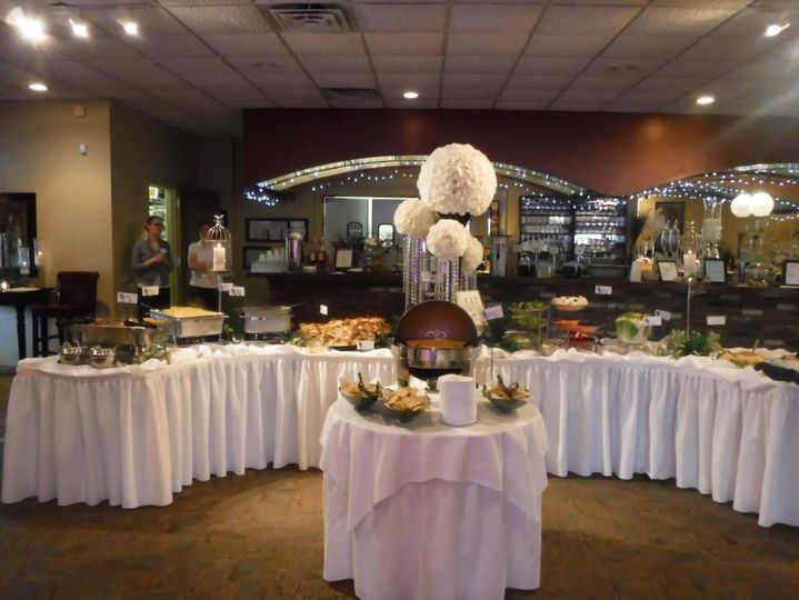 Buffet table in the Main Room
