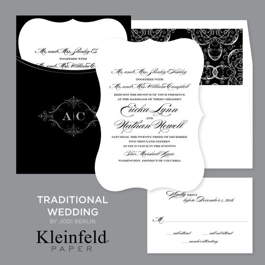 Traditional Wedding  Stunning in its simplicity, this black and white wedding design is a classic....