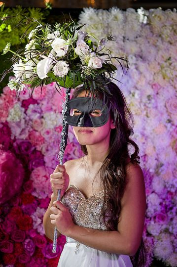 Bride in a mask