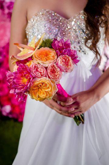 Pink and orange arrangement