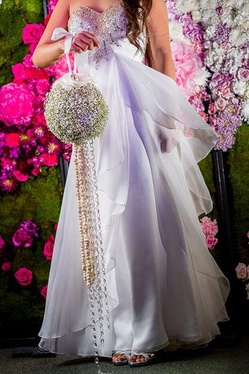 Wedding bag bouquet