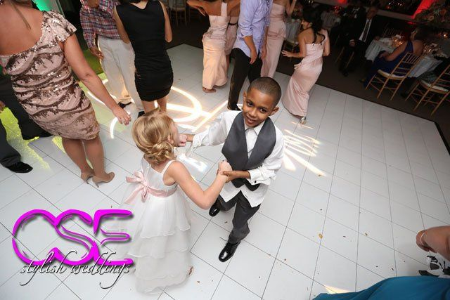 The Flower girl and ring bearer share a dance at The Imperia in Somerset, NJ