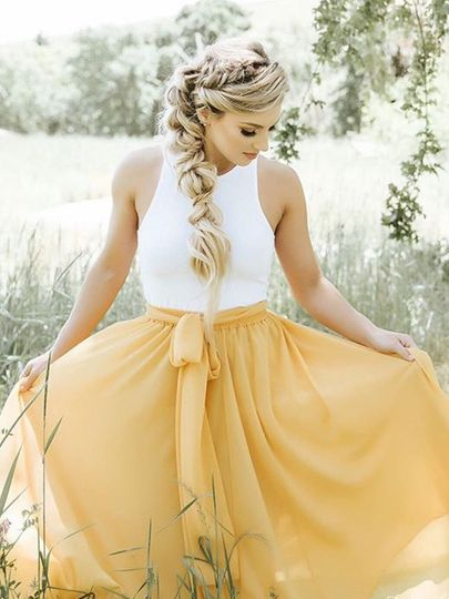 Bridal ponytail style