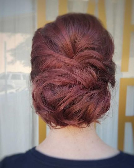Braided updo bun