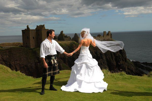 Martin and Monika in Scotland shot in front of Dunnottar.. Photographers brother.