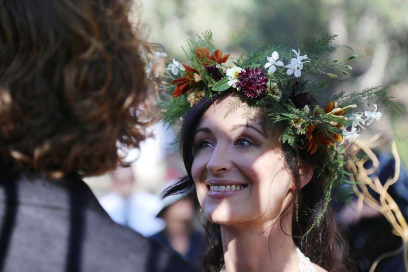 The bride's smile