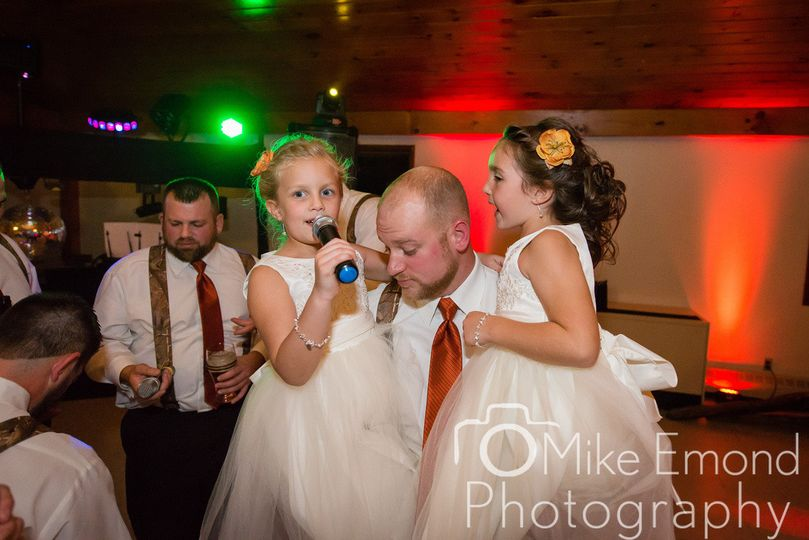 Groom and Daughters