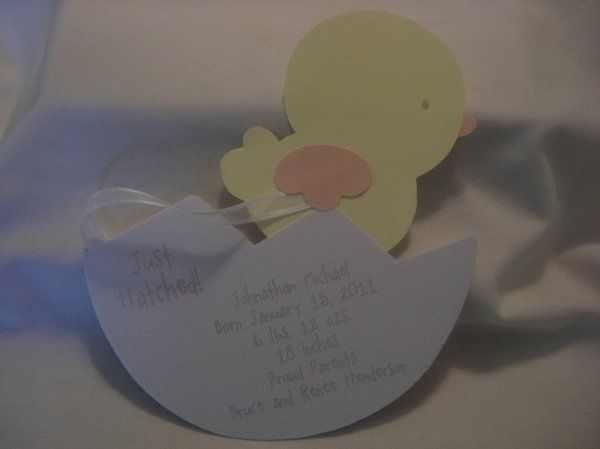 'Just Hatched' (birth announcement)