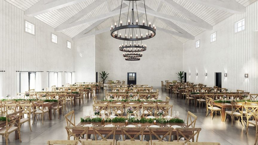 Reception Barn Interior View 1