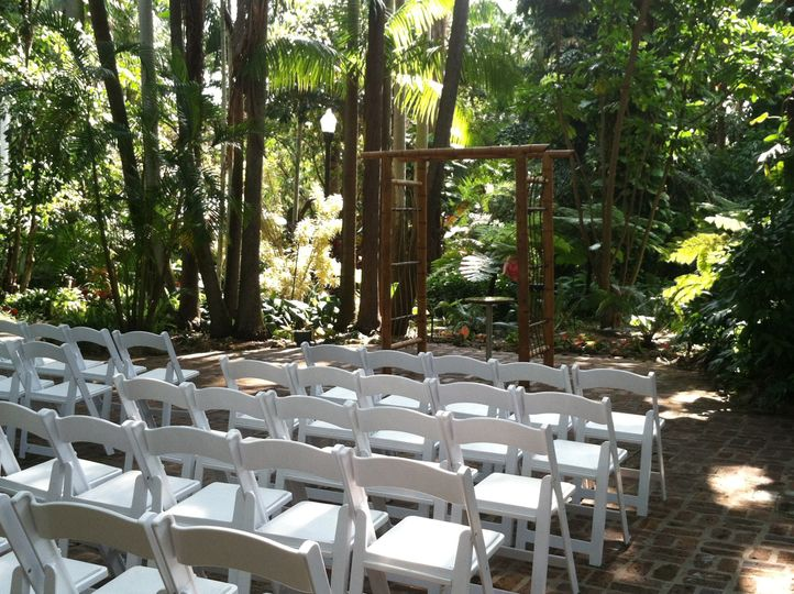 Wedding setup in the woods
