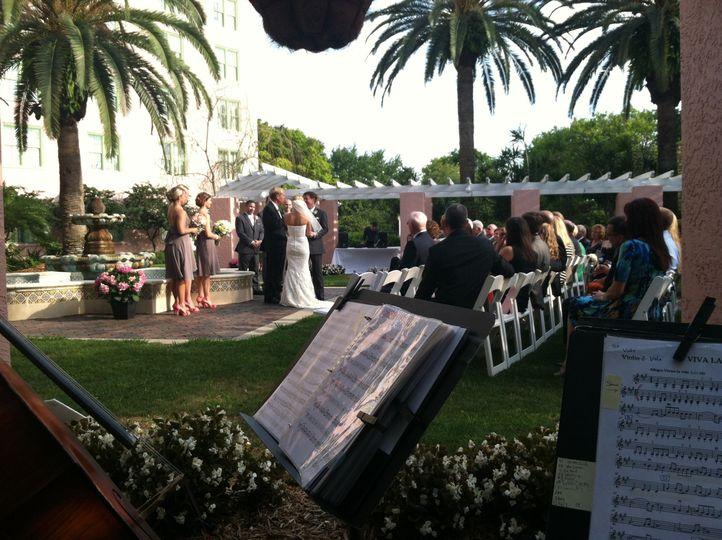 Sheet music for the garden wedding