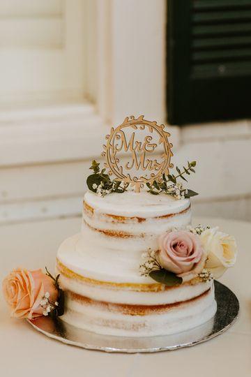 Cutest wedding cake!