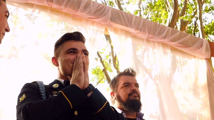 Husband reaction at wedding