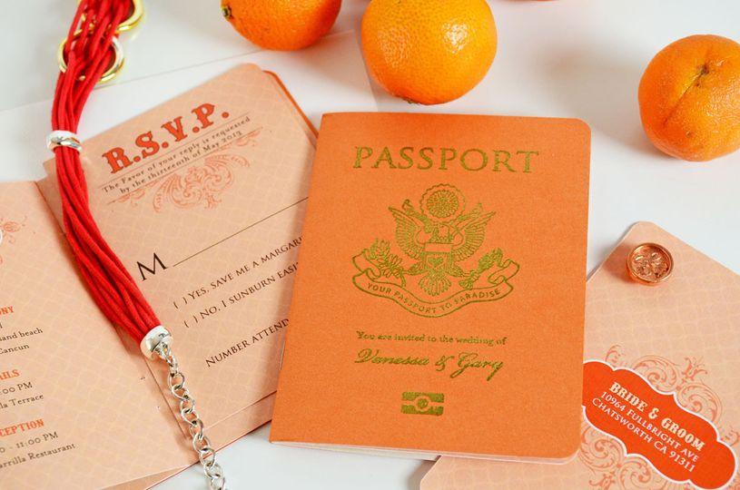 agatha passport style wedding invitation 8