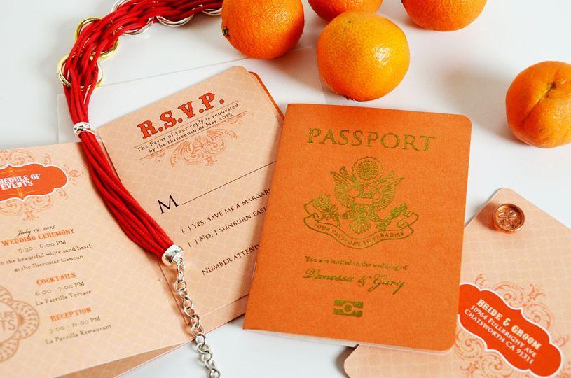 agatha passport style wedding invitation 6