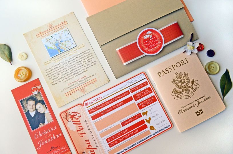 800x800 1381631253040 christina taupe and coral passport and boardding pass invitation 11