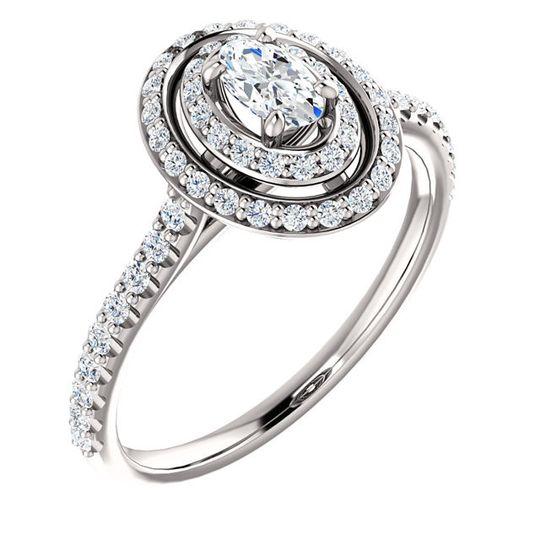 halo style diamond rin