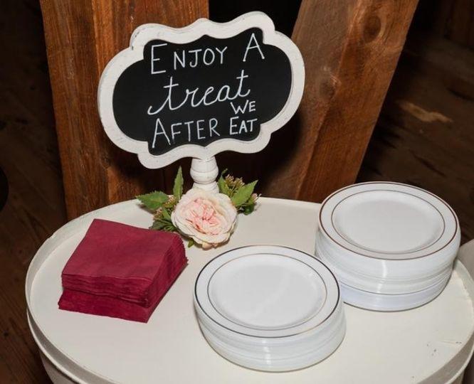 Dessert Setup