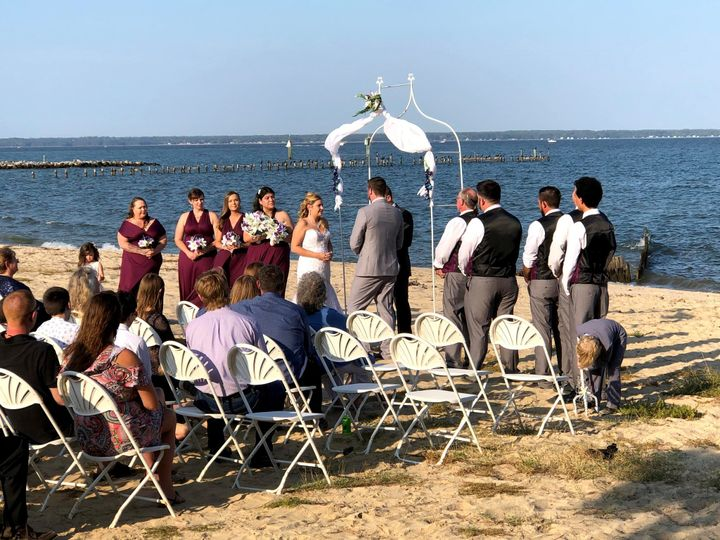 A ceremony by the sea