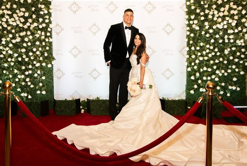 Yankees Pitcher, Dellin Betances and his lovely wife Janisa. We planned, designed and coordinated...