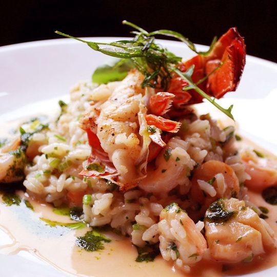 Seafood risotto square