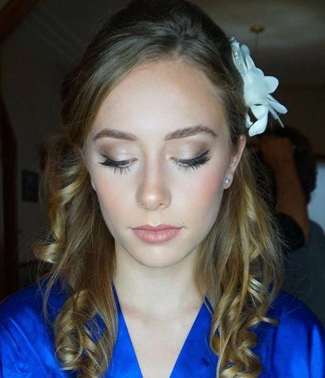 Makeup by Summer, hair by Ann
