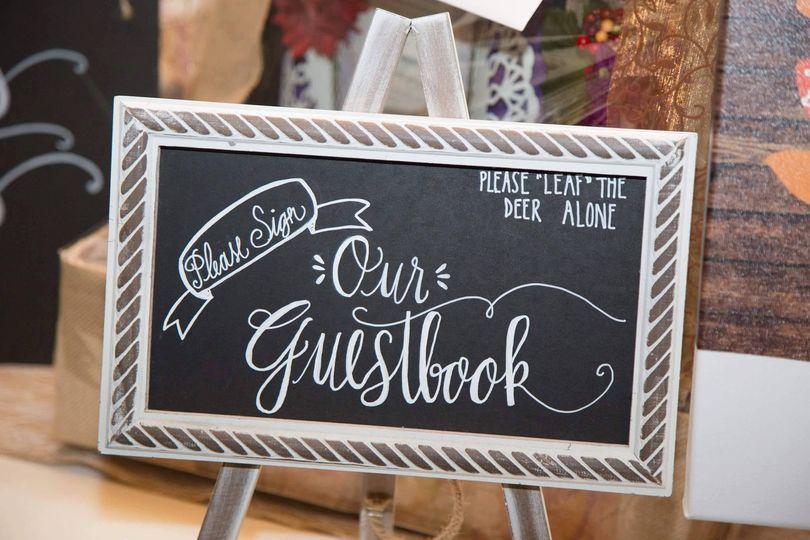 Guestbook chalk signboard