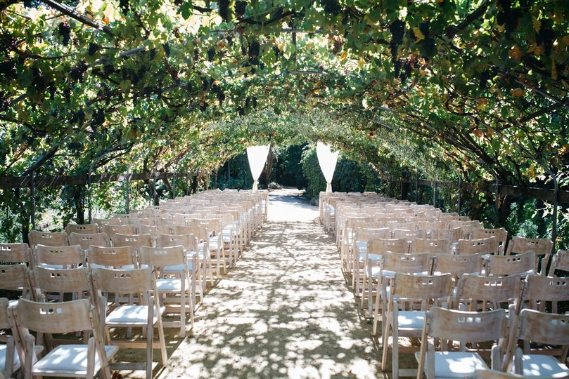 Ceremony with greenery