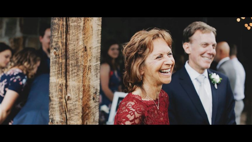 Bride's parents after ceremony