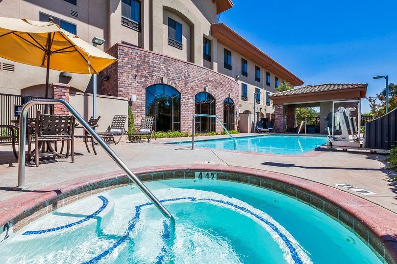 Outdoor heated pool and whirlpool spa.  Open year-round.
