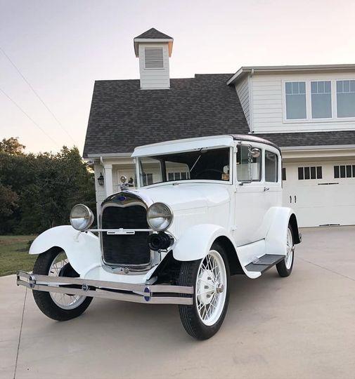 Pristine vintage vehicle