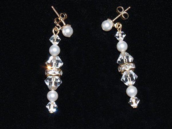 Aurora Earrings - The Aurora earrings are made of Swarovski crystals, pearls and rondelles. They are...