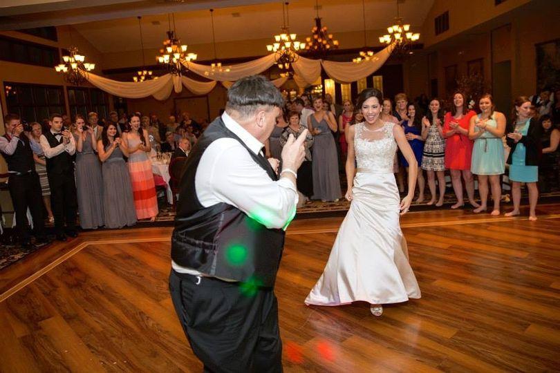 Dancing bride and personal DJ