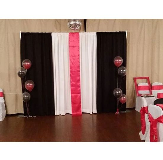 Backdrop with balloons